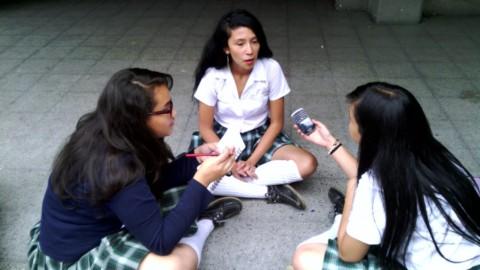 Los reporteros escolares del Avelino Saldarriaga cuentan historias
