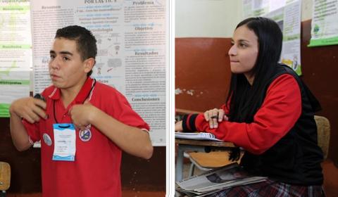 Santiago y Dayana, de la EVE para el mundo