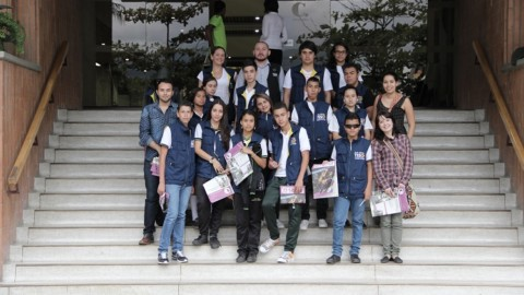 Los integrantes de TESO Media se sintieron periodistas visitando El Colombiano.