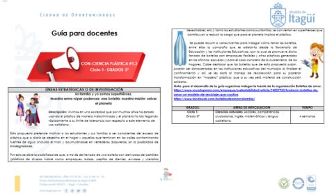 GUÍA TRANSVERSAL CON-CIENCIA PLÁSTICA GRADO 3°